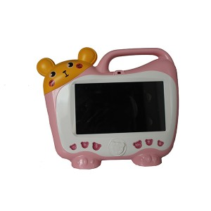 kids tablet pc na may karaoke microphone pink