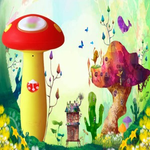Cute book reader: For Kids Ages2-6 (English Edition), Mushroom, OID,4G, RED