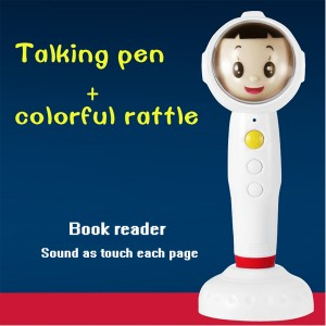 Kids Arabic reading pen, E-reader – white, OID solution with Built-in 7 color Light