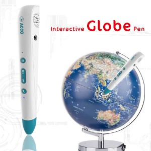 Interactive globe pen, customized