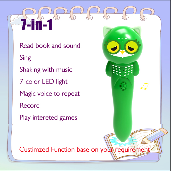 Portable books reader, talking pen, multi-function, multi-language, translator, mp3 player, lovely toy Featured Image