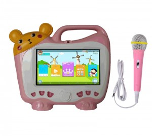 Android tablet pc na may karaoke player na