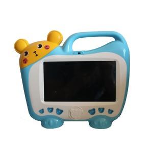kids tablet pc with karaoke microphone blue