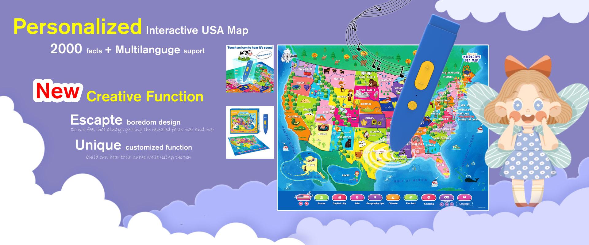 interacive USA map