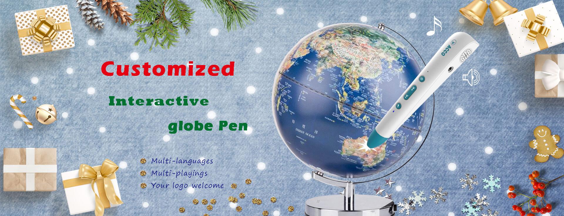 interactive globe pen